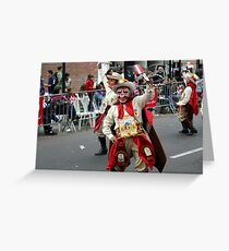 Folk Dancing Majeños Corso Wong Greeting Card