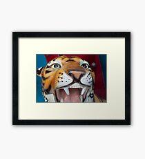 Ceramic Tiger Framed Print