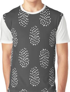 Simple hatch black pattern. Hand drawn seamless background.  Graphic T-Shirt