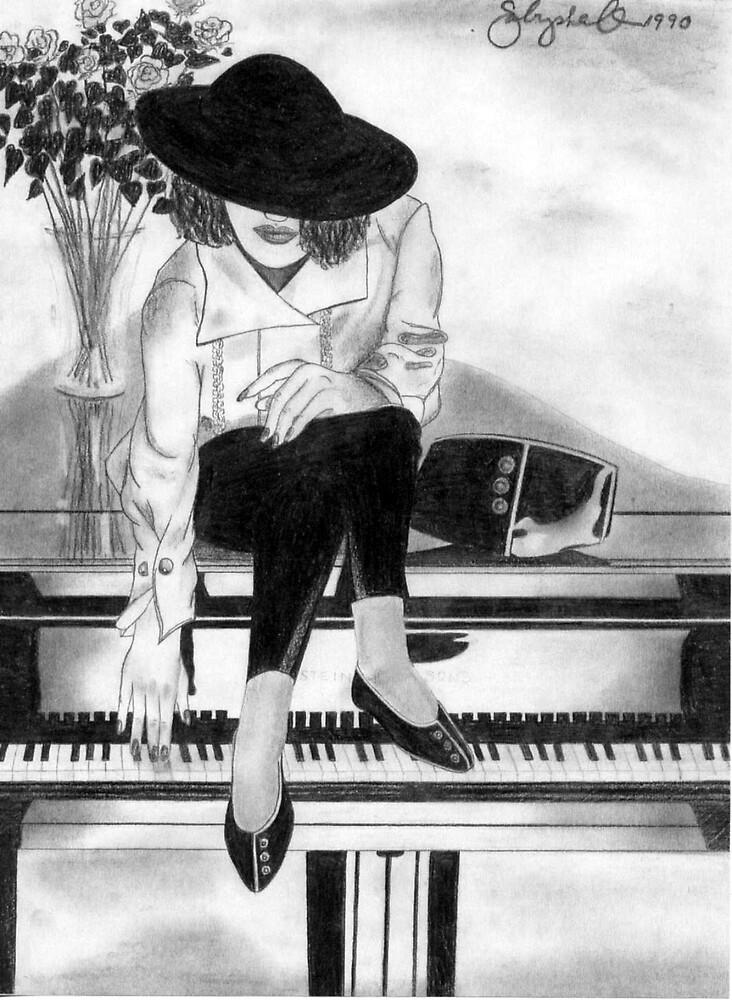 #44 Steinway Seduction ~ 1990 Series ©beauTonian arts collection by gabryshak