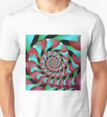 Archimedes' Magenta & Teal Tangent T-Shirt
