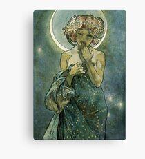 Alphonse Mucha Art Deco Vintage Illustration Canvas Print