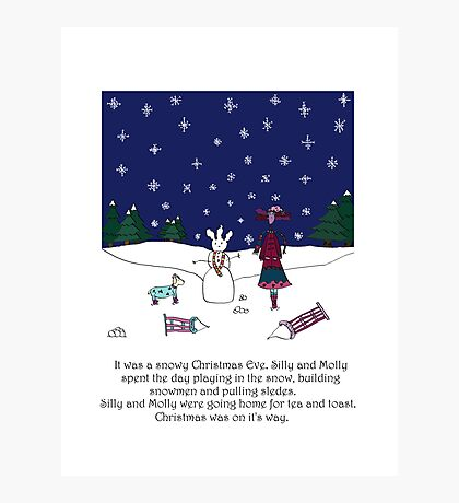 Snowy Christmas Eve Photographic Print