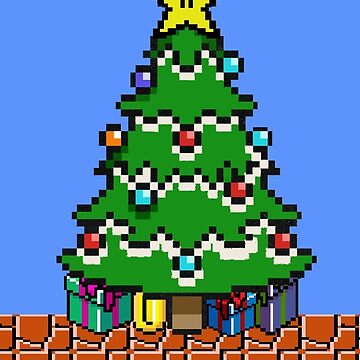 Merry 8-bit Christmas by vegetasprincess