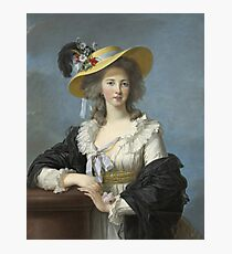 Elisabeth Louise Vigee - Lebrun - The Duchesse De Polignac Wearing A Straw Hat Photographic Print
