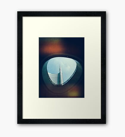 Through the hole Framed Print