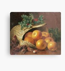 Eloise Harriet Stannard - Still Life With Apples, Hazelnuts And Holly Metal Print