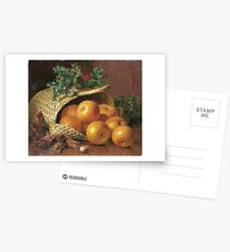 Eloise Harriet Stannard - Still Life With Apples, Hazelnuts And Holly Postcards