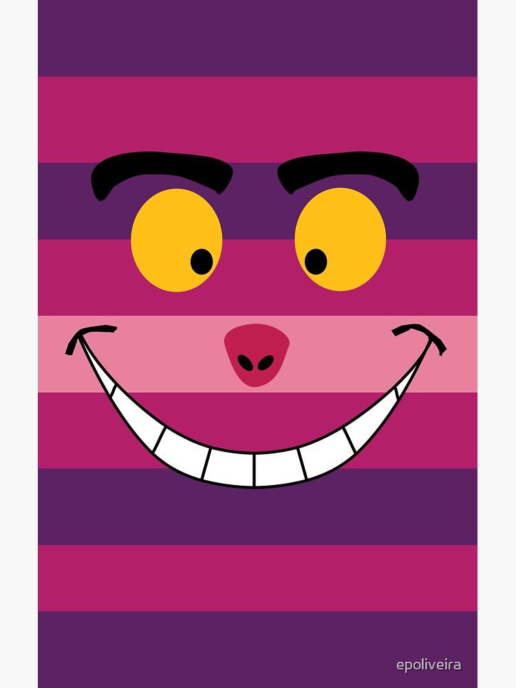 Cheshire Cat Funny Wonderland Colorful illustration by epoliveira