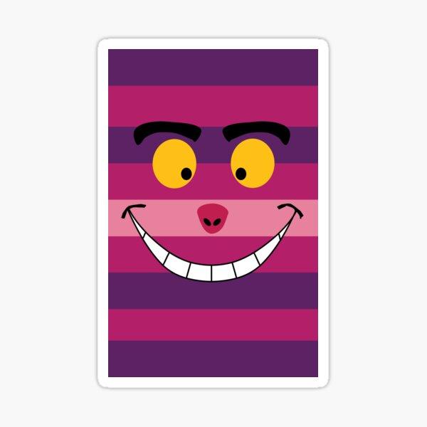 Cheshire Cat Funny Wonderland Colorful illustration Sticker