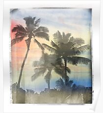 Palm trees T-Shirt Sunset  Poster