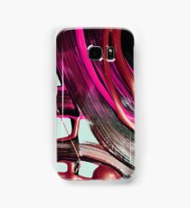 Painted background texture with pink and black stripes Samsung Galaxy Case/Skin