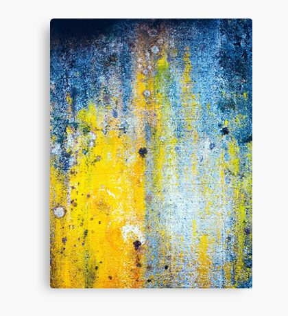 Yellow and white abstract wall Canvas Print