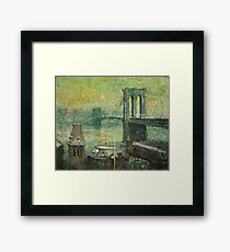 Ernest Lawson - Brooklyn Bridge Framed Print