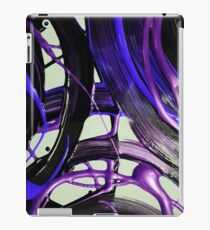 Painted background texture with blue and black stripes iPad Case/Skin
