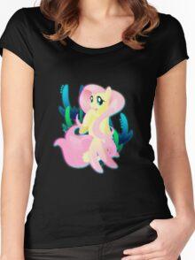 Seapony Fluttershy Women's Fitted Scoop T-Shirt