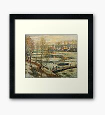 Ernest Lawson - Ice In The River Framed Print