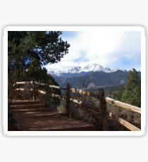 Pikes Peak from Garden of the gods Sticker