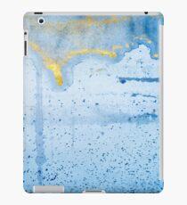 Golden Blue Sky Ink Design iPad Case/Skin