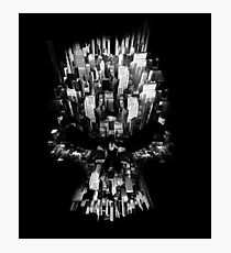 Skull shaped City view Photographic Print