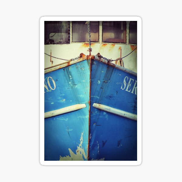 Altes blaues Boot Sticker