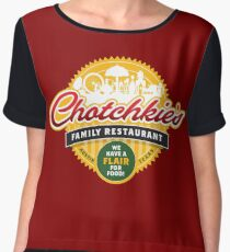 Chotchkies Family Restaurant Chiffon Top
