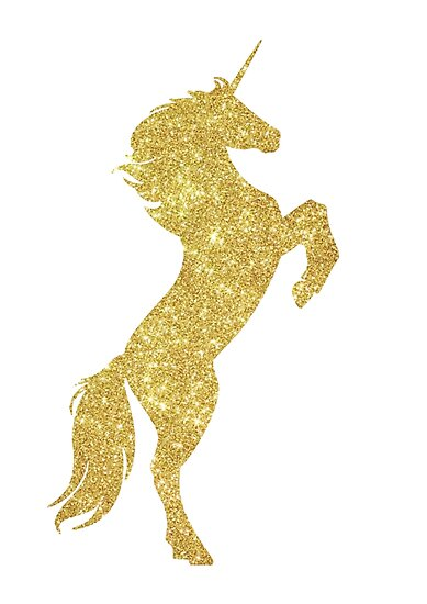 Quot Gold Sparkly Unicorn Quot Poster By Jazzyaims Redbubble