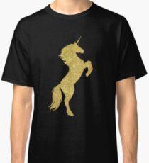 Gold Sparkly Unicorn Classic T-Shirt