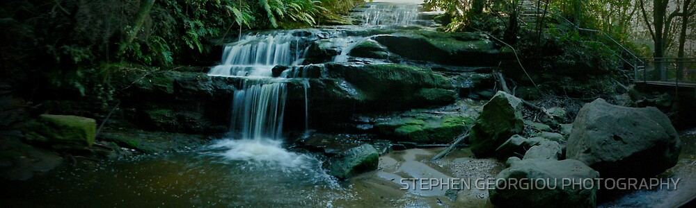 Leura cascades in the Blue Mountains Australia by STEPHEN GEORGIOU PHOTOGRAPHY
