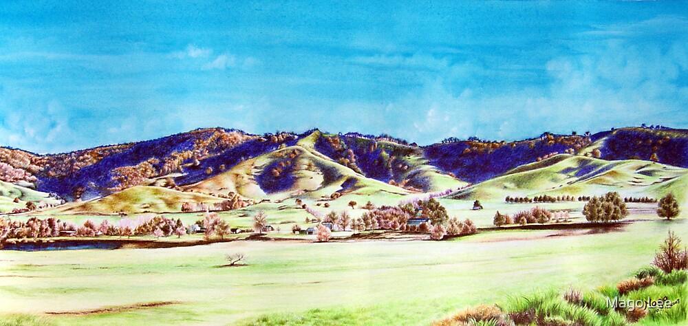 Landscape of NSW Australia by Mago Lee