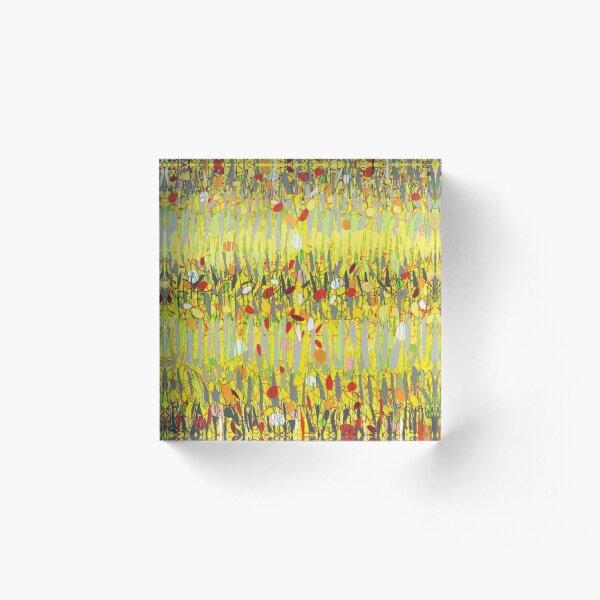 Yellow Jazz Acrylic Block