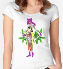 Girl in Utamaro Dress Women's Fitted Scoop T-Shirt