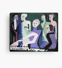 Ernst Ludwig Kirchner - Singer On Piano (Pianist) Canvas Print