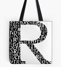 R Shadow | Typography Tote Bag