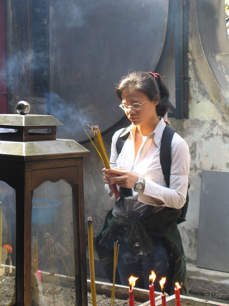 incense to heaven - praying at a taoist temple by mklau