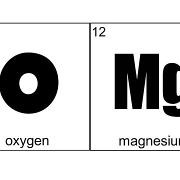 OMG Oxygen Magnesium O Mg by PureCreations