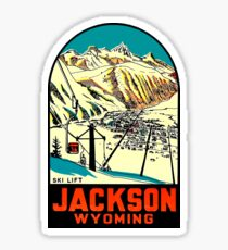 Jackson Wyoming Vintage Travel Decal Sticker