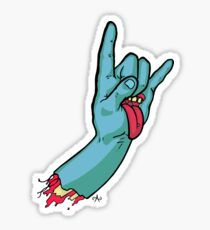 Rock On Metal Hand Sticker