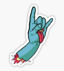 Rock On Metal Hand Sticker