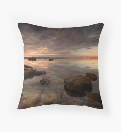 Glassy Corner Inlet Throw Pillow