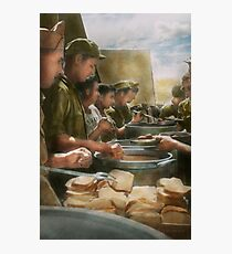 Army - Another potato please Photographic Print