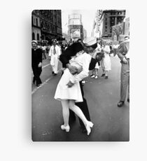 Kissing World War II Goodbye Canvas Print