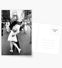 Küssen des Zweiten Weltkriegs Auf Wiedersehen Postkarten