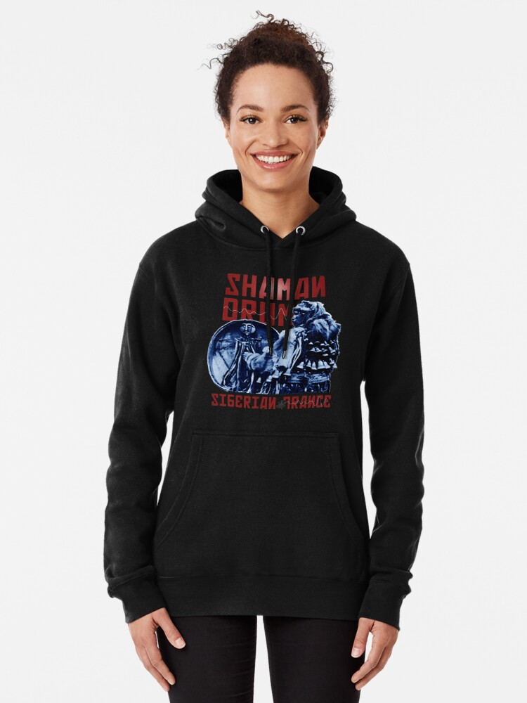 Alternate view of Shaman Drum Siberian Trance Pullover Hoodie