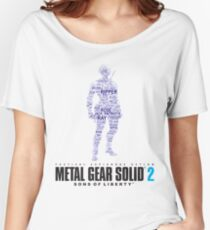 Metal Gear Solid 2 - Sons of Liberty - Raiden Typography  Women's Relaxed Fit T-Shirt