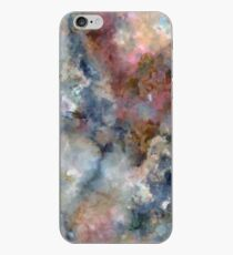 Colorful watercolor nebula onyx iPhone Case