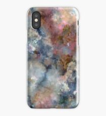 Colorful watercolor nebula onyx iPhone Case/Skin