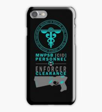 MWPSB CID (Psycho-Pass - Enforcer Clearance) iPhone Case/Skin