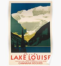 Lovely Lake Louise vintage travel ad Poster