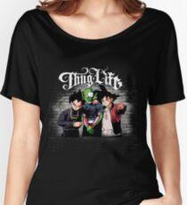 Thug life Goku, piccolo, Vegeta Women's Relaxed Fit T-Shirt